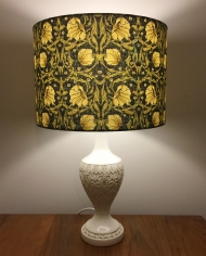 Morris-ey vintage lamp and handmade shade