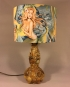 Sirens of Summer vintage lamp with handmade shade