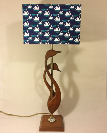 Swanning About vintage lamp and handmade shade