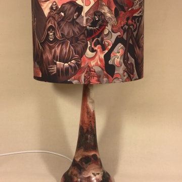 'Heart of Darkness' vintage lamp