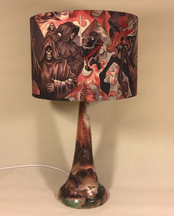 Heart of Darkness vintage lamp with handmade shade