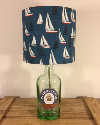 Drunken Sailor bottle lamp with handmade shade