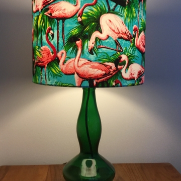 Paradise Found vintage lamp with handmade shade