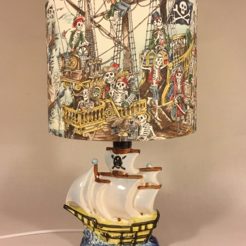 'Shiver Me Timbers' vintage lamp