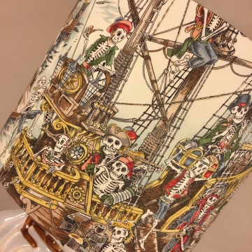 Shiver Me Timbers vintage lamp with handmade shade