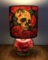 Skulls & Roses vinatage lamp with handmade shade