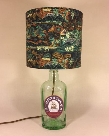 Sloe Motion upcycled lamp with handmade shade