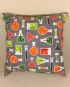 All about chemistry - handmade scatter cushion