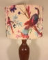 Bespoke lampshade in bird print fabric