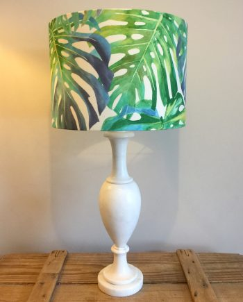 Botanical Gardens vintage lamp and handmade shade