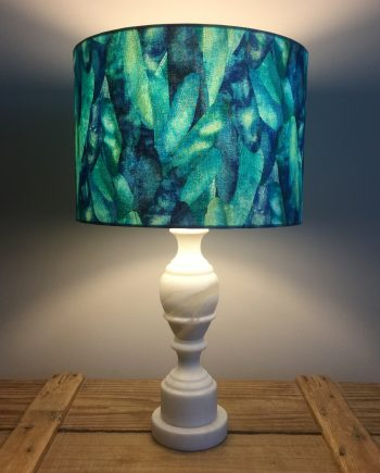 Flight of the Dragonfly vintage lamp with handmade shade