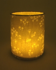Floral lantern for battery tea light or LED string