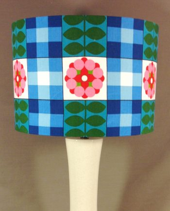 Bespoke lampshade in flower power fabric