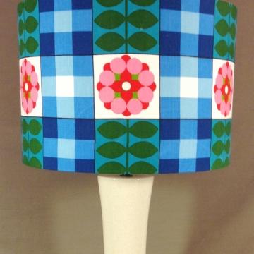 Bespoke lampshade in flower power fabric