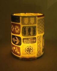 Harbour lantern for battery tea light or LED string lights