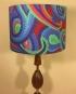 Bespoke lampshade in paisley stripe fabric