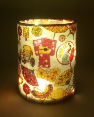 Japan lantern for battery tea light or LED string lights