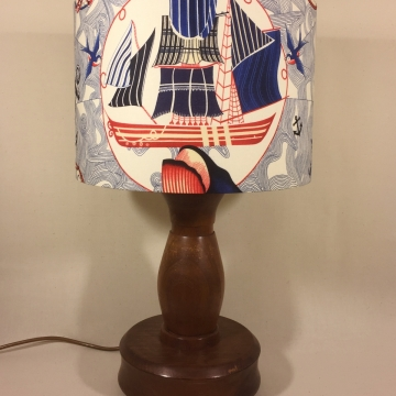 'Set Sail' vintage lamp