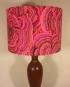 Bespoke lampshade in Tree Fungus fabric