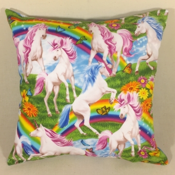 'Unicorns & Rainbows' – Scatter Cushion