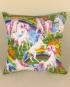 Unicorns & Rainbows - handmade scatter cushion