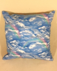 Unicorns & Rainbows – handmade scatter cushion