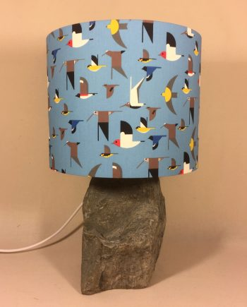 A Flock of Seagulls vintage lamp with handmade shade