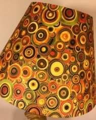 Round in Circles vintage lamp with handmade shade