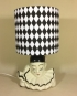 Tears of a Clown vintage lamp with handmade shade