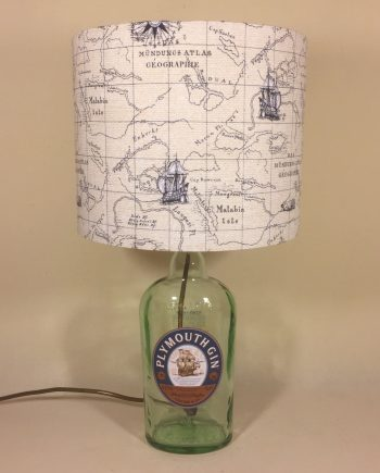 Drunken Sailor bottle lamp and handmade shade