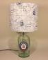 Drunken Sailor bottle lamp and handmade shade