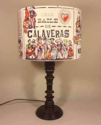 Frida's Dance vintage lamp and handmade shade