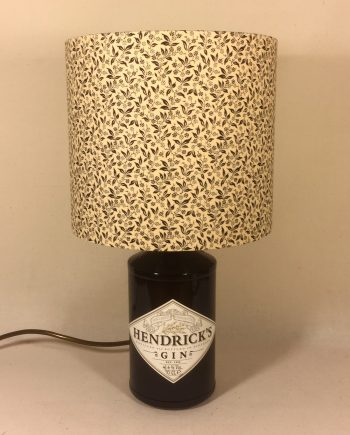 Little Gin Palace on the Prairie bottle lamp with handmade shade