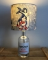 Lost at Sea bottle lamp with handmade shade