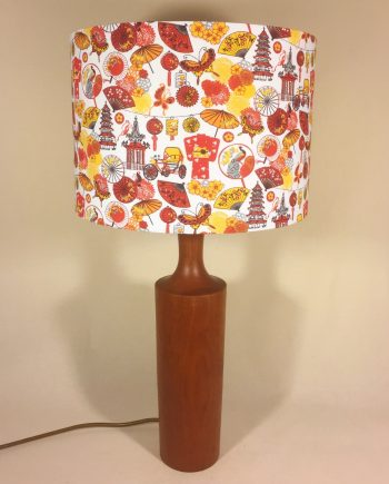 Lost in Translation vintage lamp with handmade shade