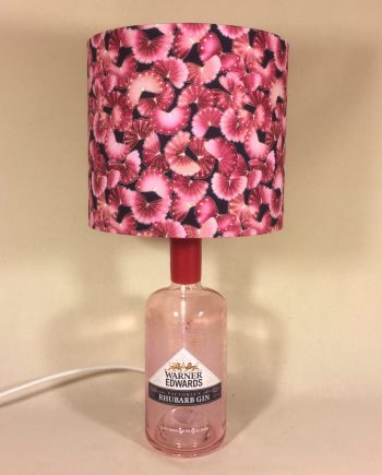 Potted Rhubarb vintage lamp with handmade shade
