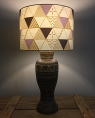 Prism Break vintage lamp with handmade shade