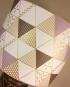 Prism Break vintage lamp with handmade shade