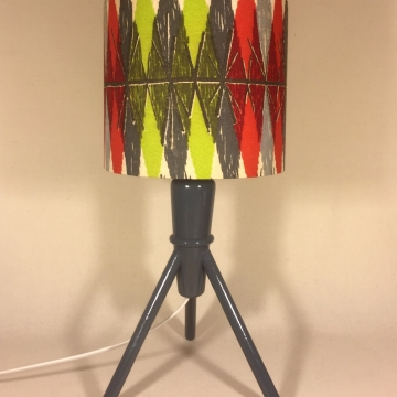 'Beauty and the Bomb' vintage lamp