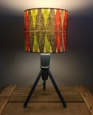 Beauty and the Bomb vintage lamp with handmade shade