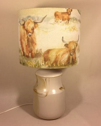 Laird of the Manor vintage lamp and handmade shade