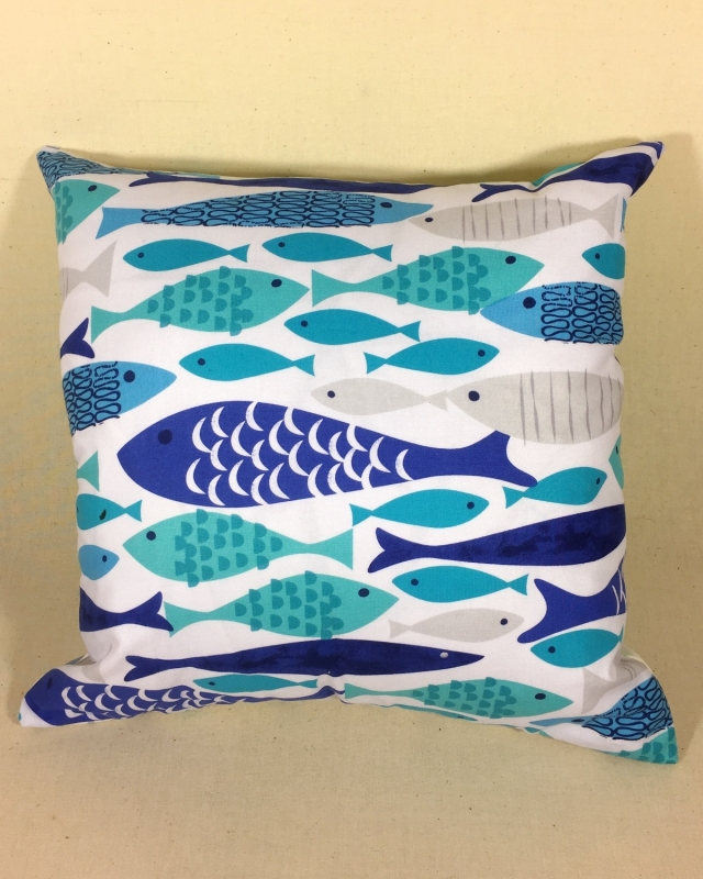 Scandi fish - handmade scatter cushion