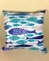 Scandi fish - handmade scatter cushion