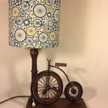 You Me & the Lamppost vintage lamp with handmade shade