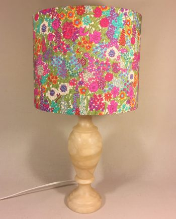 Secret Garden vintage lamp with handmade shade