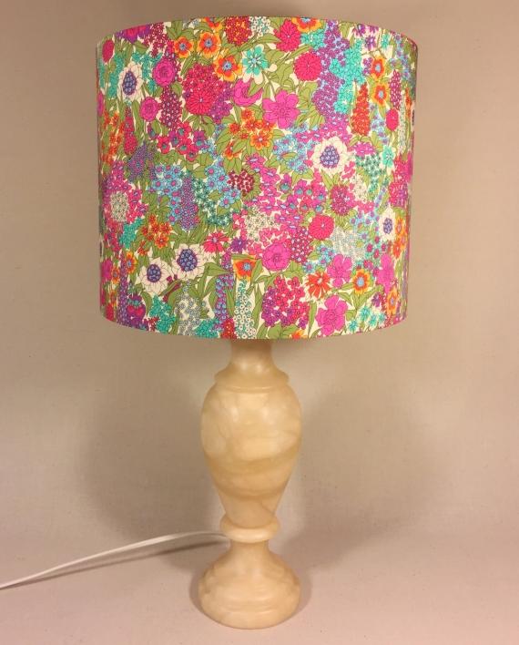 Secret Garden vintage lamp with handmade shade
