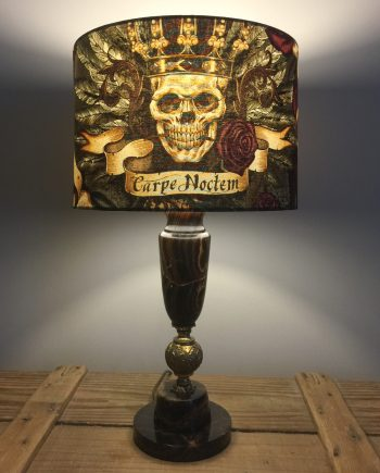 Seize the Night vintage lamp with handmade shade