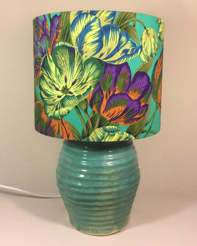 Still Life vintage lamp and handmade shade