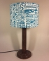 Summer Holiday vintage lamp with handmade shade