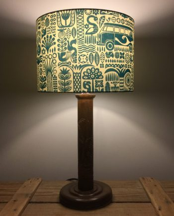 Summer Holiday vintage lamp with handmade shade